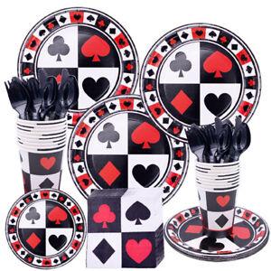 Las Vegas Casino Theme Party Tableware Birthday Supplies Decoration Plates Cups
