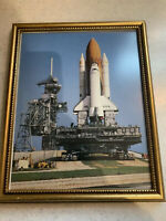 8x10 NASA STS-3 Shuttle Launch Columbia Framed Photo
