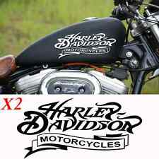 2 stickers autocollant harley davidson skull sportster iron pour reservoir moto