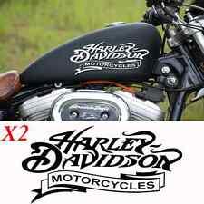2 stickers autocollant harley davidson skull sportster iron pour reservoir moto