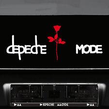 Depeche Mode Exciter Schriftzug weiß + Rose rot Auto Tattoo Dekofolie Aufkleber
