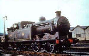 Colour-rail 35mm railway slide BRE426 class N1 0-6-2T 69477 Copley Hill Aug 1958