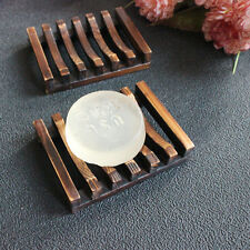 Home Bath Accessories Handmade Natural Wood Soap Dish Holder Useful Tool