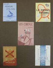 """""""COUVERTURES DE LIVRES"""" Maquette gouache et collage originale 1940"""