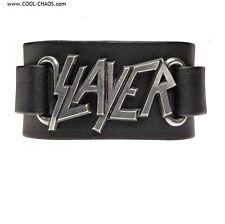 SLAYER Leather Wriststrap / Licensed Slayer Merchandise, Pewter,Rock.Band,Stage
