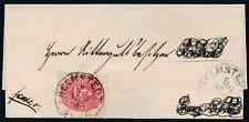 11262) ALTDEUTSCHL. BRAUNSCHWEIG 1865, MI.18 ALS EF AUF FALTBRIEF, Mi. 180,-€