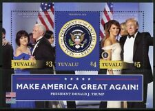 TUVALU  2018 PRESIDENT TRUMP & VP PENCE & THEIR WIVES  SHEET  MINT NH