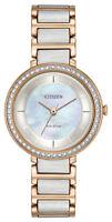 Citizen Silhouette Eco-Drive Women's Swarovski Crystal 30mm Watch EM0483-89D
