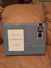 Tommy Hilfiger Blue Twin 3 Piece Flannel Sheet Set 100% Heavyweight Cotton NIP