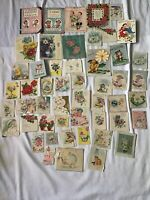 Lot of 51 Vintage 1950's WELCOME BABY Greeting Cards Shower Anniversary USED