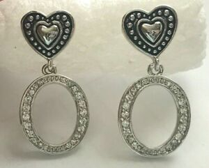 Montana Silversmiths Heart and Hoop CZ Earrings
