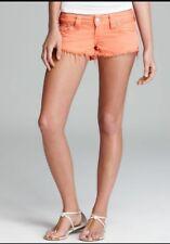TRUE RELIGION Keira Tangerine Cutoff Shorts Sz 28 $158 Style # WQ9K18EG