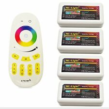 4 x Milight RGB RGBW 2.4G 4 Zone wifi RF led strip Receiver and Controller