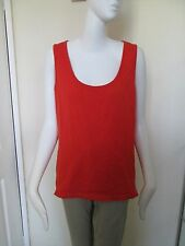 GEORGE - BRIGHT RED - 100% COTTON VEST TOP SIZE 20 USED