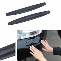 2x Car Carbon Fiber Anti-Scratch Strip Bumper Body Corner Protector Guard Trim