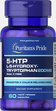 Puritans Pride 5-HTP 200 mg x 60 Capsules Good Nights Sleep - Increase Melatonin