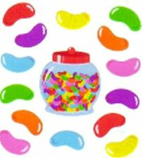 **RARE**    Glittery JELLY BEANS WITH JAR Sandylion Stickers - 3 squares