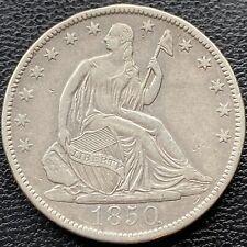 1850 O Seated Liberty Half Dollar 50c Higher Grade XF - AU #22166