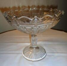 "EAPG VINTAGE COMPOTE ""Large, Scalloped Edge, Beautiful Design"""
