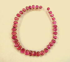 "PINK TOURMALINE RUBELLITE faceted pear beads AAA 6.5-10mm 8.5"" strand"