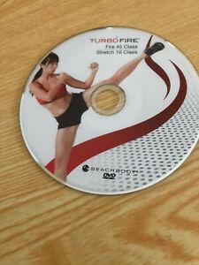 Turbo Fire Fire 45 Stretch 10 DVD ONLY Beachbody