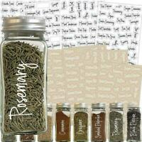 274 Stickers Spice Herb Storage Jar Labels Stickers Label Decals Pantry H6A2