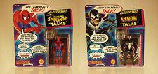 Electronic Amazing Spider-Man Talks -&- Venom Talks Action Figure Set! Talking