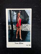 1956 VINTAGE SWEDISH DUTCH GUM MOVIE STAR CARD #NR 980 Vera Ellen PSA NR980