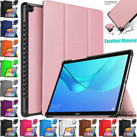 """Leather Slim Smart Shell Stand Cover Case For Huawei MediaPad M5 10.8"""" Tab 2018"""