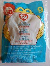 2000 McDonalds Ty Teenie Beanie Tusk The Walrus NIP #9