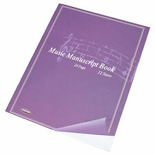 5 Pack x A4 24 Page Music Manuscript Sheet Note Books 12 Stave Notation Paper
