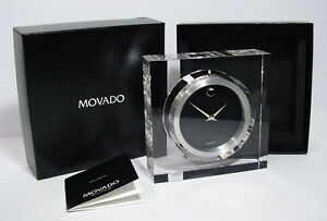 Movado MCL000217M Rotating Crystal Clock & Photo Frame. A Brand-new, Unused.