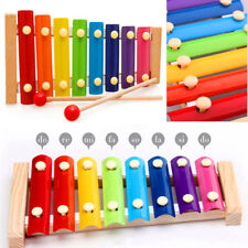 8 Notes Kids wooden Traditional Metal Xylophone Musical Music Toy Instrument UK