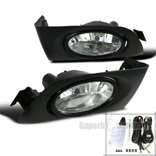 2001-2003 Fit Honda Civic Clear Lens Fog Lights Bumper Lamps w/ Switch
