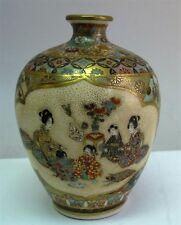 19th C. Japanese MEIJI-ERA SATSUMA Art Pottery Vase  CHILDREN PLAYING  c. 1890