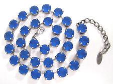 Runde Modeschmuck-Halsketten aus Strass und gemischten Metallen