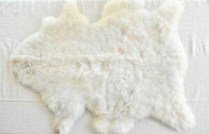 100% Genuine SHEEPSKIN Soft Fur Rug Ivory White, 22 x 30 in.