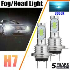 H7 LED Headlights Bulbs Conversion Kit High/Low Beam 80W 20000LM 8000K Ice Blue