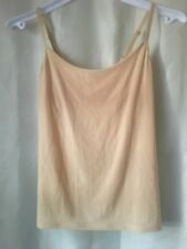 Victoria's Secret beige light control cami shelf bra adj straps S