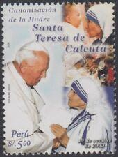 Perú 1446 2004 Canonización María Teresa de Calcuta Juan pablo II  MNH