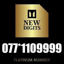 GOLD PREMIUM VIP DIAMOND PLATINUM MOBILE PHONE NUMBER SIM CARD 077*1109999