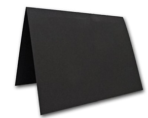 """Blank Black Place Cards Tent Cards - 50 Pack 