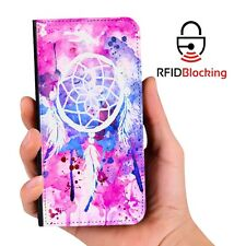Dreamcatcher Watercolor Luxury Flip Cover Wallet Card PU Leather Phone Galaxy