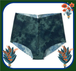 M Green NOIR  Marble NOSHOW Edges Victorias Secret High Waist Midi Brief Pantie
