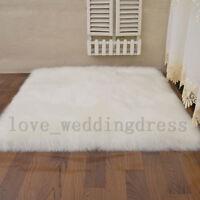 Thick Soft Faux Fur Sheepskin Area Rug Balcony Fluffy Mat Room Floor Carpet Rugs
