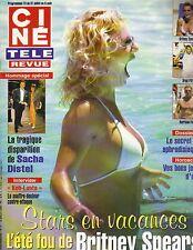 BRITNEY SPEARS French Cine Tele Revue Magazine 7/29/04 BRAD PITT HARRISON FORD