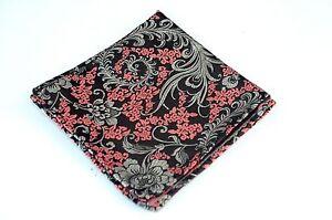 Lord R Colton Masterworks Pocket Square - Kyoto Burgundy Floral Silk - $75 New