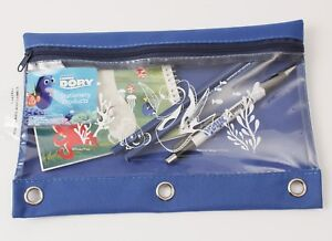 FInding Dory Pencil Case with Clear Window  Pencils Pen and Notepad Disney