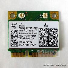 Intel 6200 Mini Card 60Y3191 300Mbp Lenovo Thinkpad T400 T400S T410 T410S T410Si