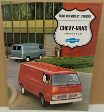 VAN G 10 20 SPORTVAN WORKING TRUCK 68 DEALER DEALERSHIP 1968 CHEVY BROCHURE